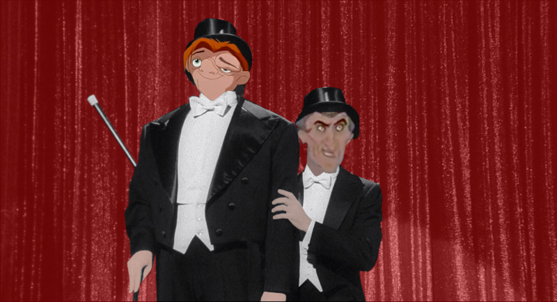 Frollo and Quasimodo singing Puttin on the Ritz picture image
