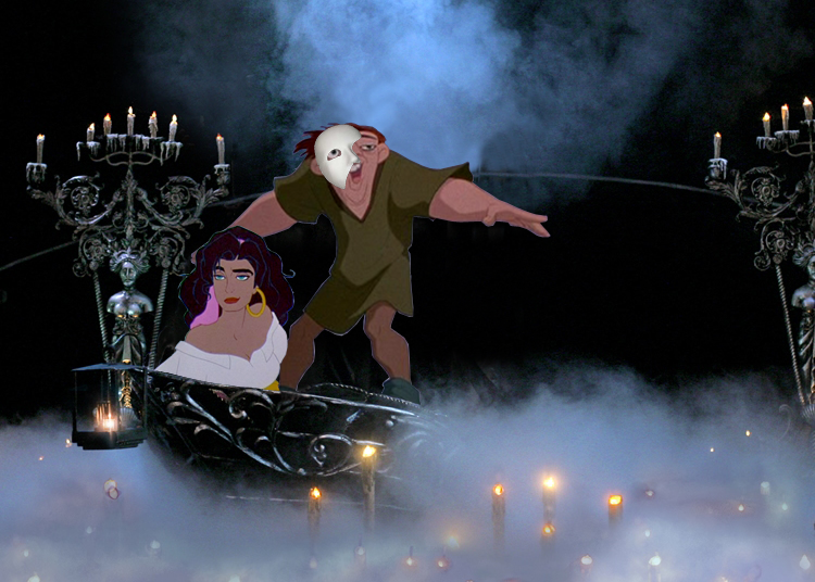 Disney Esmeralda and Quasimodo on the Phantom's Boat picture image