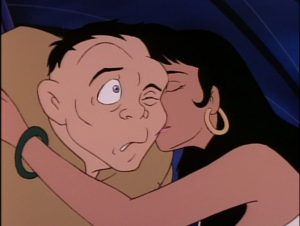 Esmeralda gives Quasimodo a kiss Jetlag version Hunchback of Notre Dame picture image