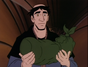 Frollo adopting Baby Quasimodo Jetlag version Hunchback of Notre Dame picture image