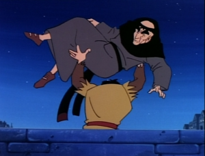 Quasimodo throws Frollo off a bridge Jetlag version Hunchback of Notre Dame picture image