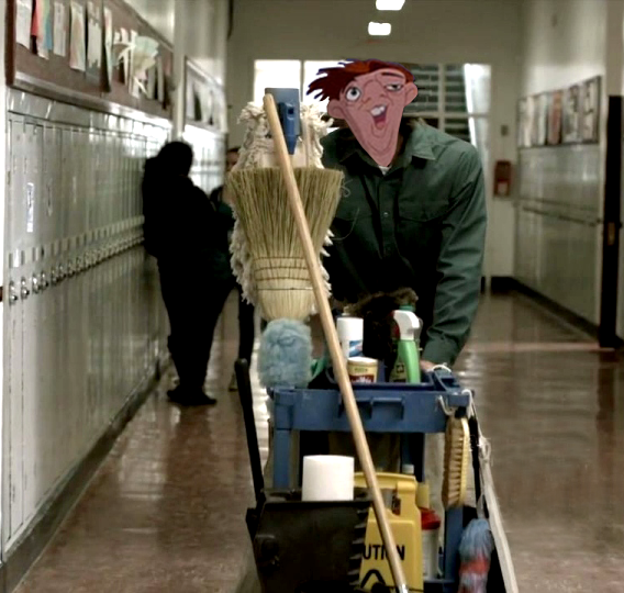 Quasimodo as the School Janitor picture image