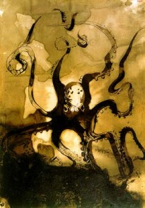 Victor Hugo Octopus with the initials V.H picture image