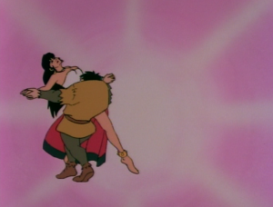 Esmeralda dancing with Quasimodo, The Hunchback of Notre Dame, Jetlag picture image