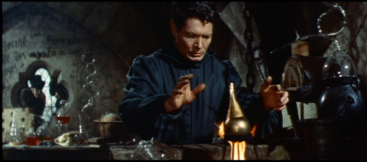 Frollo (Alain Cuny) practices alchemy, 1956 The Hunchback of Notre Dame picture image