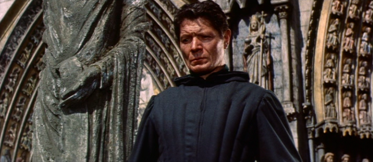 Frollo (Alain Cuny), 1956 The Hunchback of Notre Dame picture image