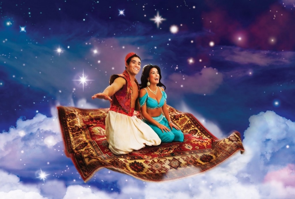 Adam Jacobs as Aladdin and Courtney Reed as Jasmine, Seattle Production picture image