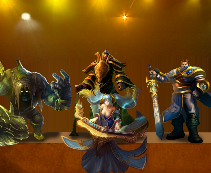 League of  Legend Champions in the Belle set up picture image