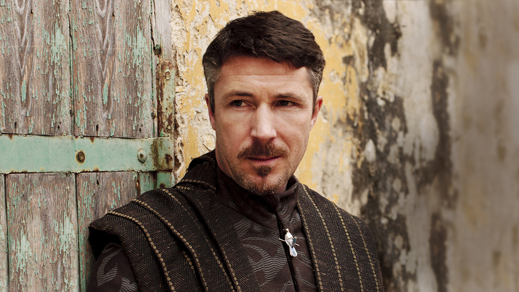Aidan Gillen as  Petyr Baelish, Sophie Turner as Sansa Stark, Game of Thrones picture image