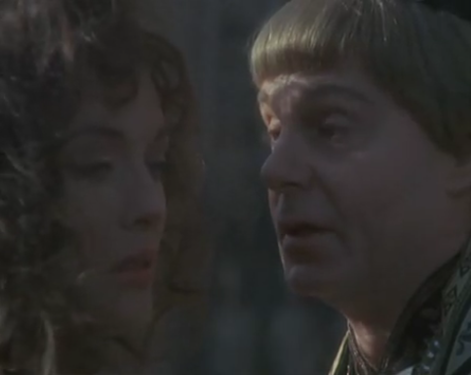 Lesley-Anne Down as Esmeralda & Derek Jacobi as Frollo,  1982 Hunchback of Notre Dame picture image
