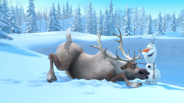 Sven and Olaf from Frozen picture image