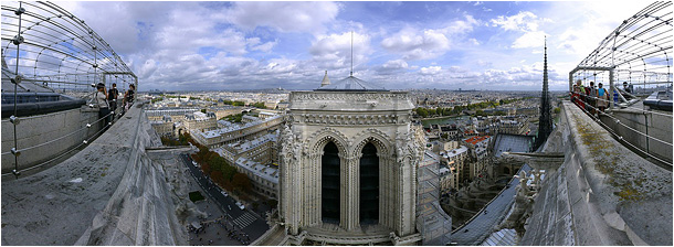 Panorama of atop the North Tower, From Paris  picture iamge