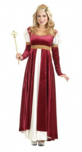 Charades Womens Camelot Renaissance Dress Halloween Costume picture image