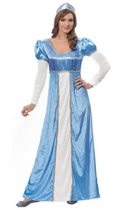 Costume Culture by Franco LLC Womens Medieval Blue Princess Halloween Costume picture image
