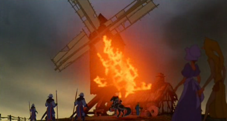 Frollo burns the Mill, Disney Hunchback  of Notre Dame picture image