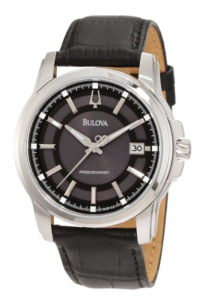 Bulova Men's Precisionist Leather Strap Watch, Frollo, picture image