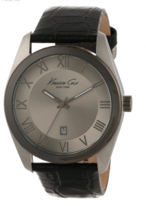 Kenneth Cole New York Men's  Classic Grey Dial Roman Numeral Detail Strap Watch clopin picture image