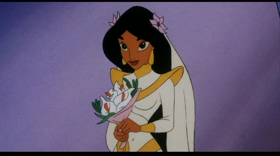 Jasmine and her ugly wedding gown, Aladdin and the King of Thieves picture image