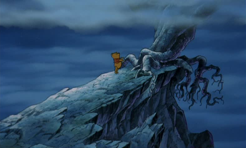 Pooh on a Cliff, Pooh's Grand Adventure the Search for Christopher Robin picture image
