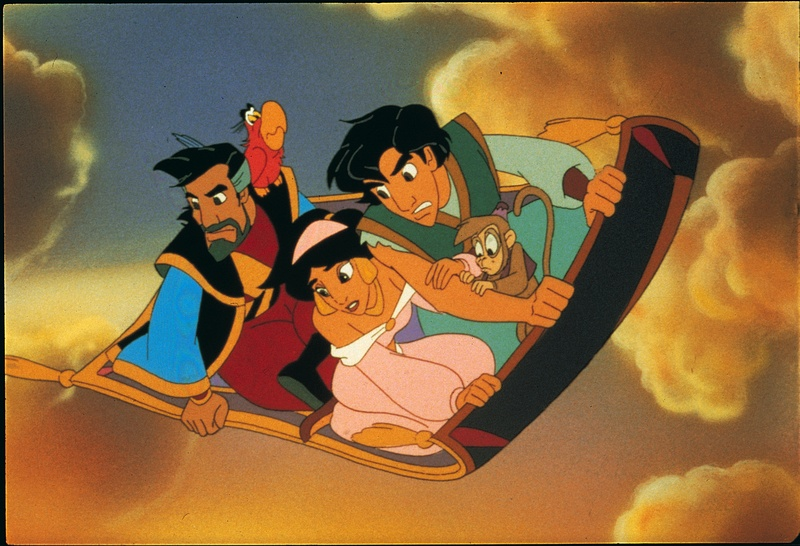 Cassim, Iago, Jasmine, Abu, Aladdin, Aladdin and the King of Thieves picture image