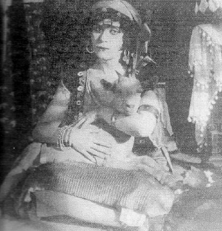 Theda Bara as Esmeralda in the 1917 The Darling of Paris picture image