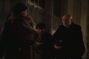 Richard Harris as Frollo hiring thugs, 1997 The Hunchback picture images