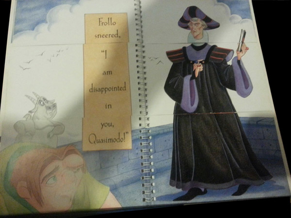 Frollo's page Disney's Mix and Match Villains Book pictureimage