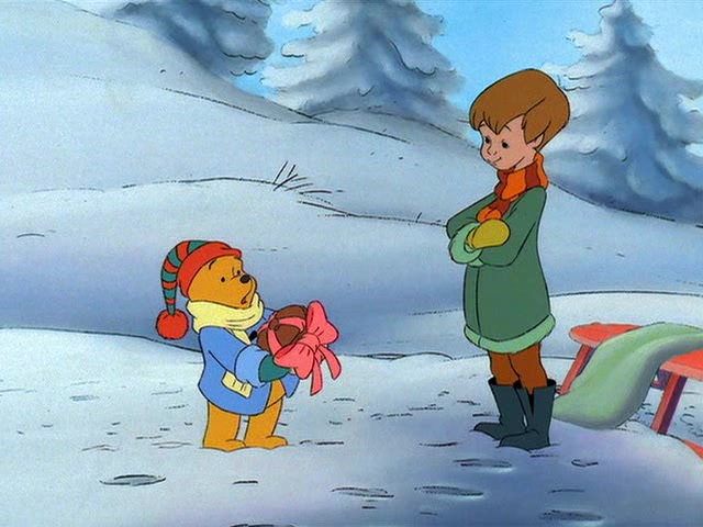 Pooh and Christopher Robin Winnie the Pooh: A Very Merry Pooh Year picture image