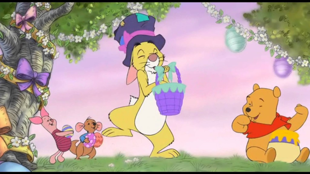 Piglet, Roo, Rabbit, & Pooh, Winnie the Pooh Springtime with Roo  picture image