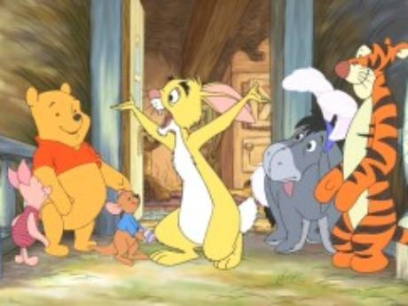 Piglet, Pooh, Roo, Rabbit, Eeyore & Tigger  Winnie the Pooh Springtime with Roo  picture image