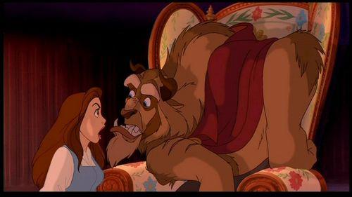 Belle and Beast's argument Beauty and the Beast picture image