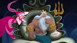 Marina and King Triton The Little Mermaid: Ariel's Beginning picture image