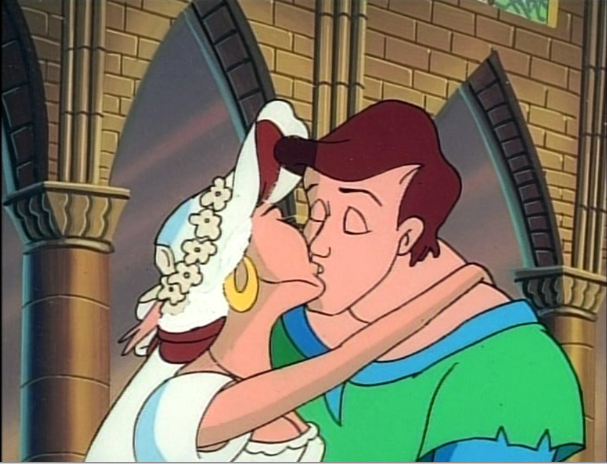 Melody and Quasimodo getting married Enchanted Tales Hunchback of Notre Dame picture image