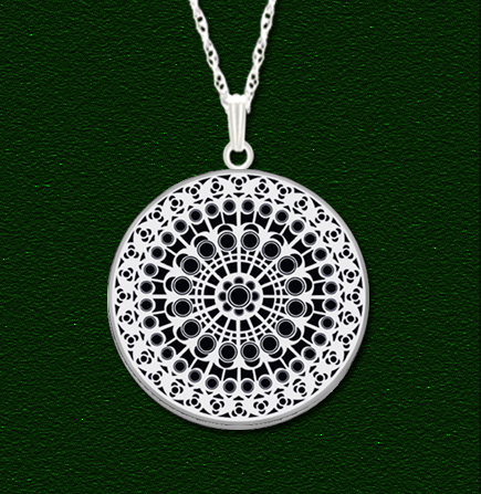 Rose window pendants the hunchblog of notre dame notre dame north rose window pendant by lovell design picture image aloadofball Choice Image