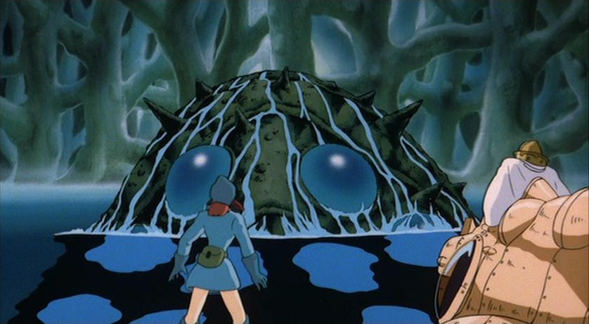 Nausicaa encounters  an Ohmu Nausicaa of the Valley of the Wind picture image