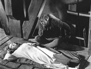Maureen O'Hara as Esmeralda & Charles laughton as Quasimodo 1939 Hunchback of Notre Dame  picture image