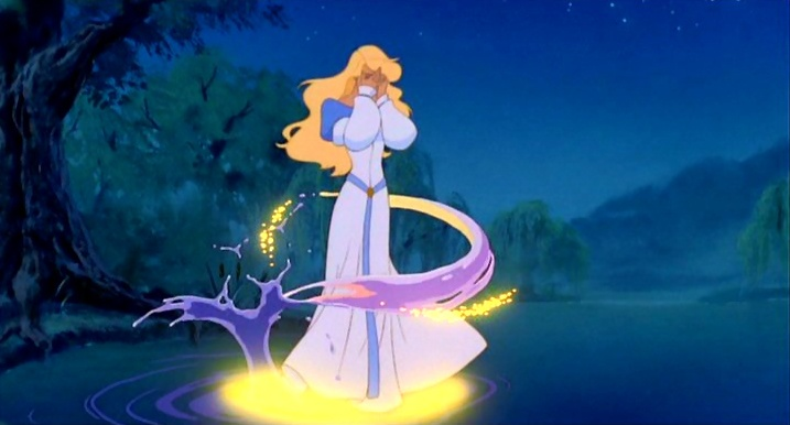 Odette Transforming into a Swan The Swan Princess  picture image