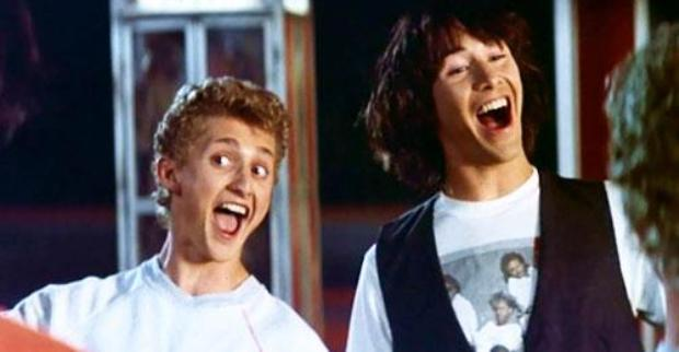 Keanu Reeves as Ted from Bill and Ted's Excellent Adventure picture image