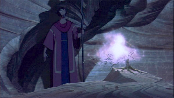 Moses and the burning brushThe Prince of Egypt Picture image