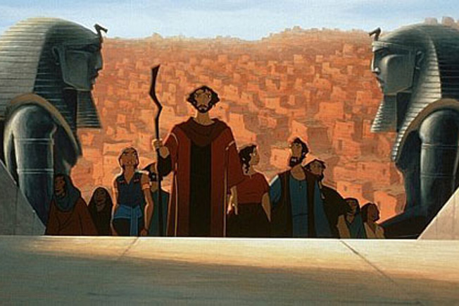 Moses and the Jewish People leaving Egypt when you believe The Prince of Egypt Picture image