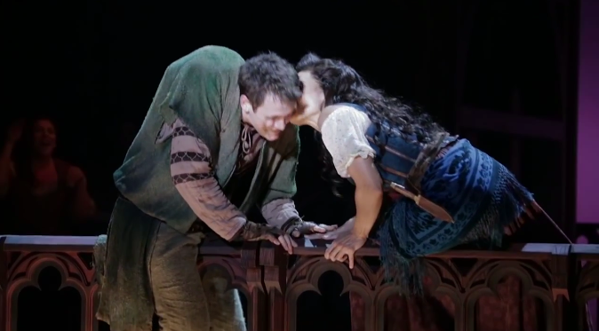 Ciara Renee and Micheal Arden in the Jolla Production of The Hunchback of Notre Dame picture image