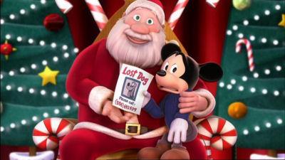 mickey with santa mickeys twice upon a christmas picture image - Mickey Twice Upon A Christmas