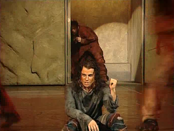 garou Bruno Pelletier Gringoire spotting Quasimodo during the Feast of Fools Notre Dame de Paris picture image