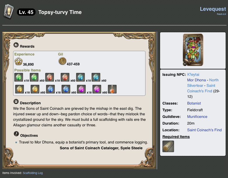 Topsy-Turvy Final Fantasy XIV; A Realm Reborn picture image