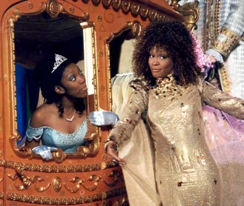 Brandy as Cinderella and Whitney Houston as The Fairy Godmother 1997 Cinderella picture image