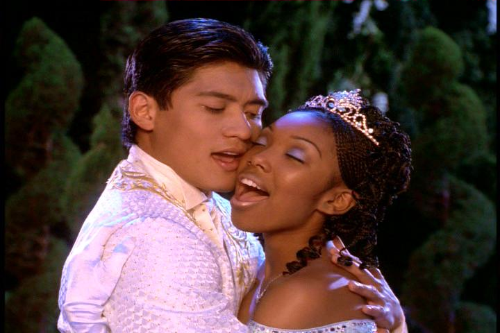 Brandy as Cinderella and Paolo Montalban as Prince Christopher 1997 Cinderella picture image