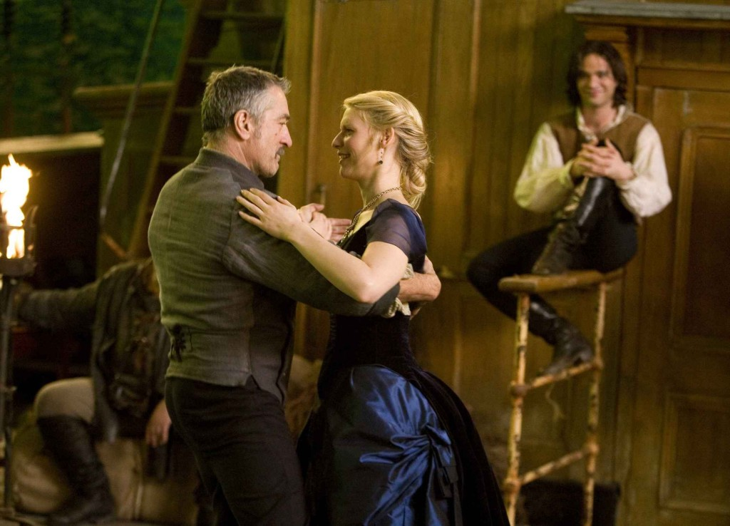 Charlie Cox as Tristan, Claire Danes as Yvaine, and Robert De Niro as Captain Shakespeare stardust picture image