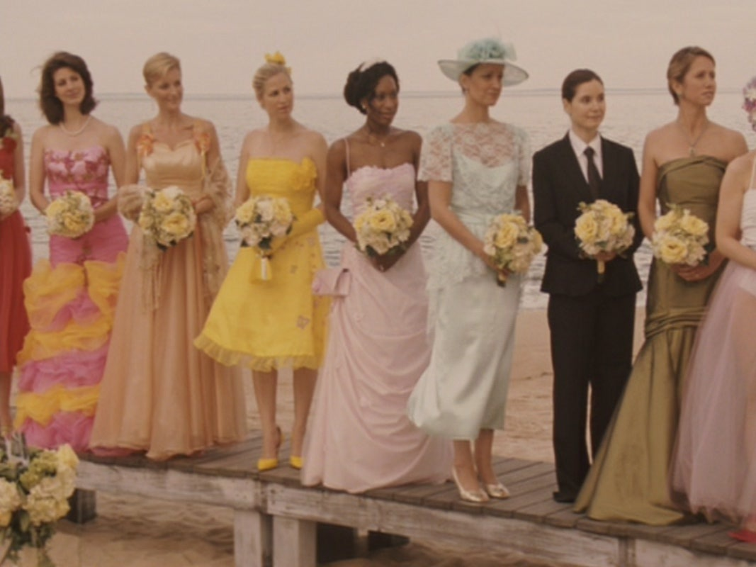 The former Brides in the bridesmaid gown they picked as Jane's wedding 27 Dresses picture image