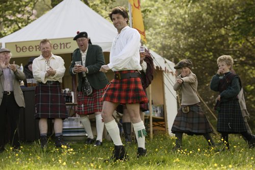 Tom in a mini-kilt Made of Honor picture image