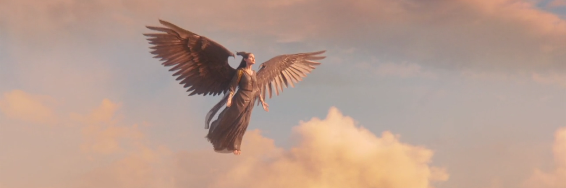 Angelina Jolie as Maleficent flying picture image